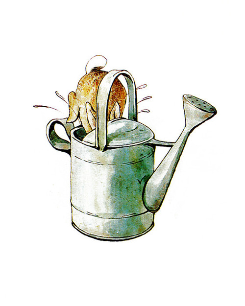 Art Prints of Peter Jumps into Water Pitcher by Beatrix Potter