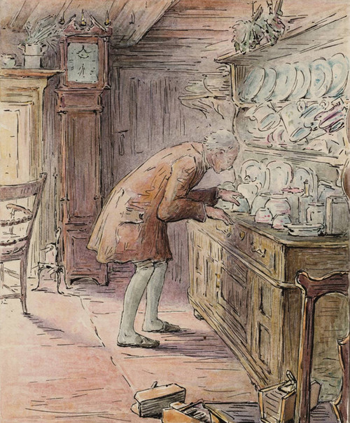 Art Prints of The Tailor Hears Noises by Beatrix Potter