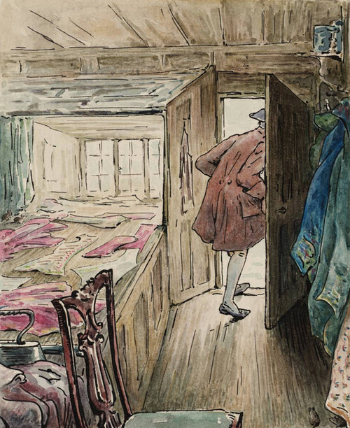 Art Prints of The Tailor Leaving His Workshop by Beatrix Potter