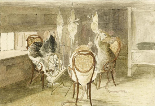Art Prints of Three Little Mice Sat Down to Spin by Beatrix Potter