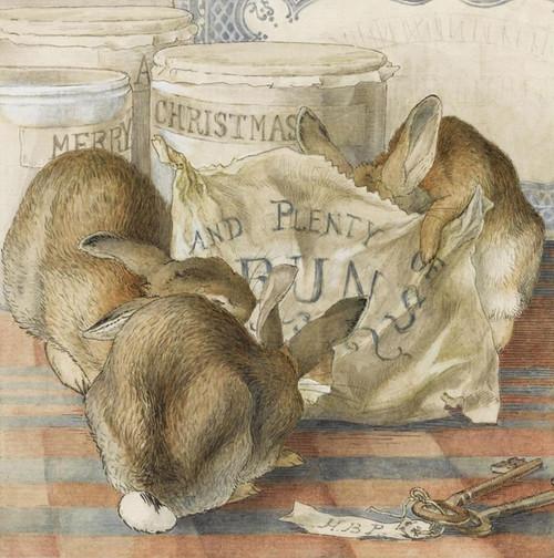 Art Prints of Three Bunnies Eating Plenty of Buns by Beatrix Potter