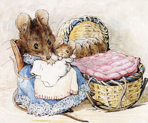 Art Prints of Mother and Baby Mouse by Beatrix Potter