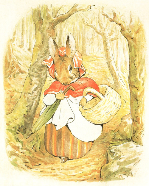 Art Prints of Tale of Peter Rabbit Walk Through the Woods by Beatrix Potter