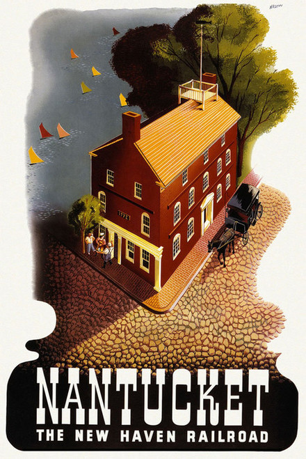 Art Prints of Nantucket, the New Haven Railroad, 1940 by Ben Nason