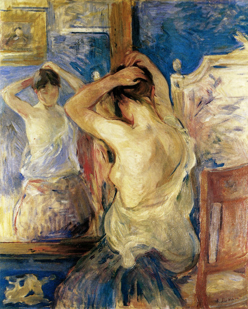 Art Prints of Before the Mirror by Berthe Morisot