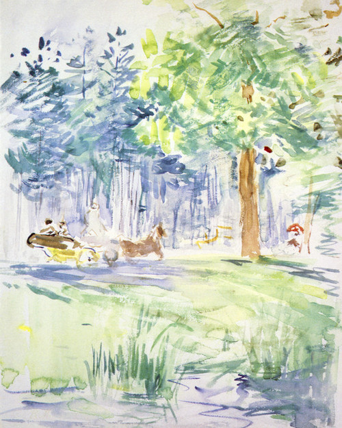 Art Prints of Carriage in the Bois de Boulogne by Berthe Morisot