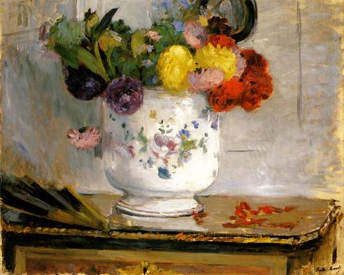 Art Prints of Dahlias by Berthe Morisot
