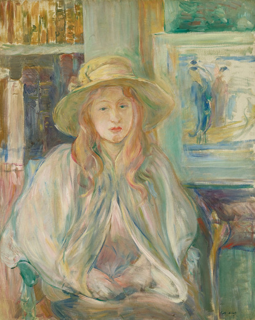 Art Prints of Girl in a Straw Hat by Berthe Morisot