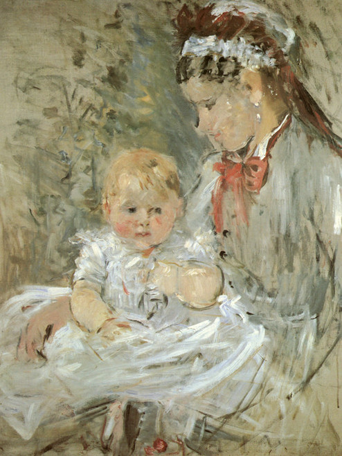 Art Prints of Julie with Her Nurse by Berthe Morisot