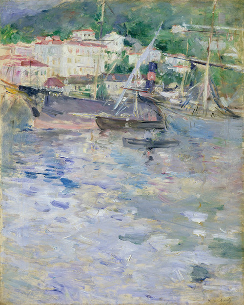 Art Prints of Le Port de Nice by Berthe Morisot