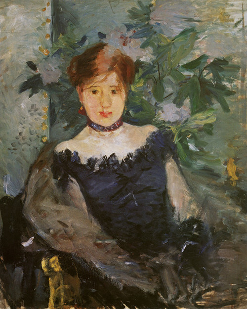 Art Prints of Le Corsage Noir or the Black Corsage, Woman in Black by Berthe Morisot