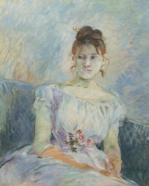 Art Prints of Paule Gobillard in a Ball Dress by Berthe Morisot