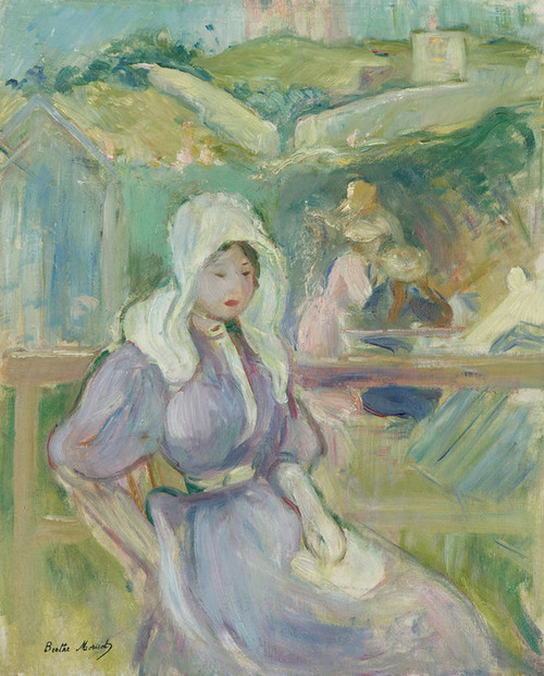 Art Prints of On the Beach Portrieux, France by Berthe Morisot