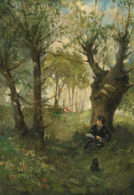 Art Prints of The Old Way to Auvers by Berthe Morisot