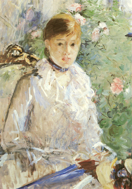 Art Prints of Young Woman by a Window, Summer by Berthe Morisot