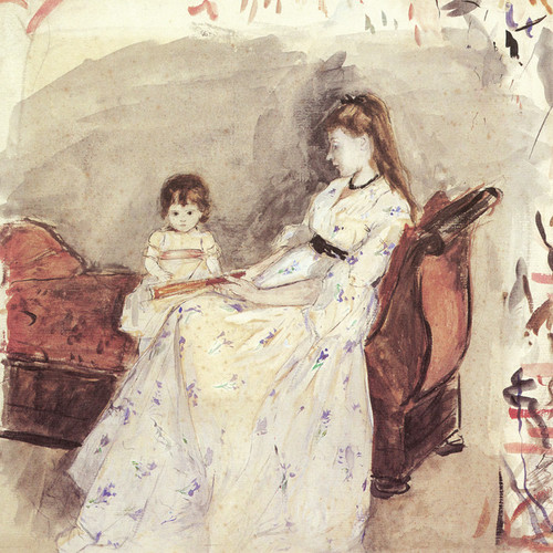 Art Prints of The Artist's Sister Edma, with Her Daughter, Jeanne by Berthe Morisot