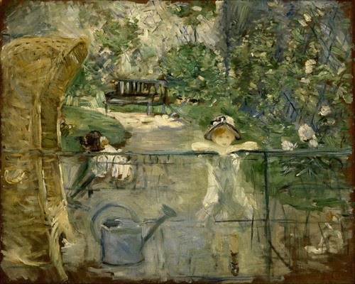 Art Prints of The Basket Chair by Berthe Morisot