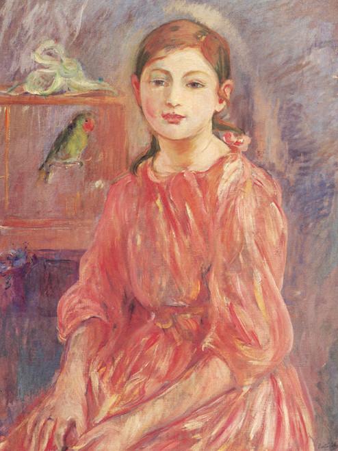 Art Prints of The Artist's Daughter with a Parakeet by Berthe Morisot
