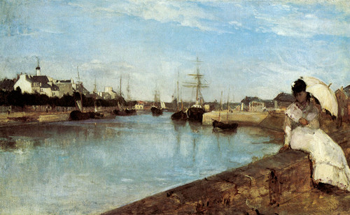 Art Prints of The Harbor at Lorient by Berthe Morisot