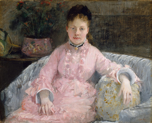 Art Prints of The Pink Dress by Berthe Morisot