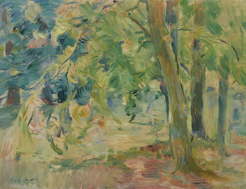 Art Prints of The Woods of Mesnil by Berthe Morisot