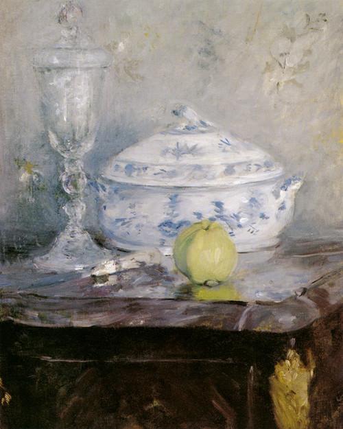 Art Prints of Tureen and Apple by Berthe Morisot