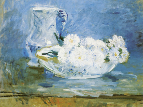 Art Prints of White Flowers in a Bowl by Berthe Morisot