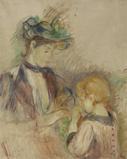 Art Prints of Young Woman and Child, Avenue Bois by Berthe Morisot