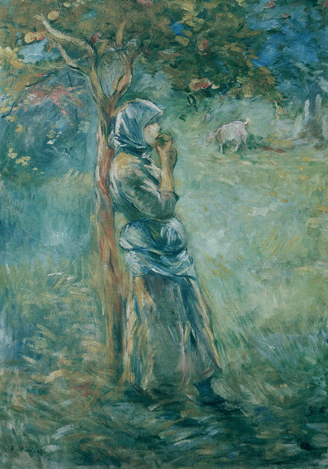 Art Prints of Young Peasant Girl Eating an Apple by Berthe Morisot