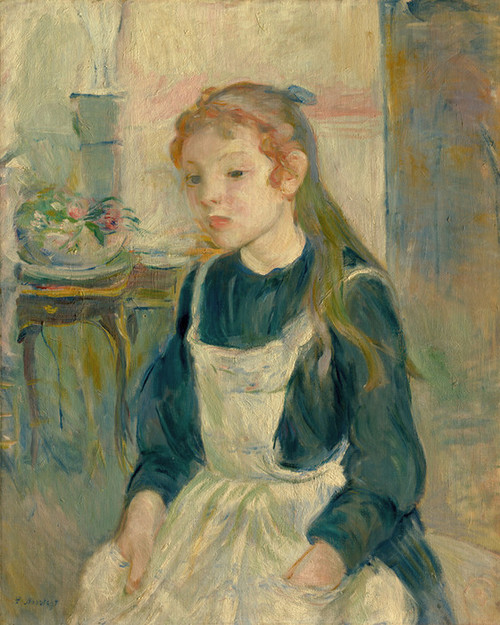 Art Prints of Young Girl with an Apron by Berthe Morisot