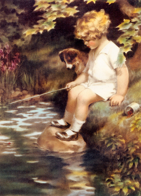 Art Prints of What a Perfectly Peaceful Afternoon by Bessie Pease Gutmann