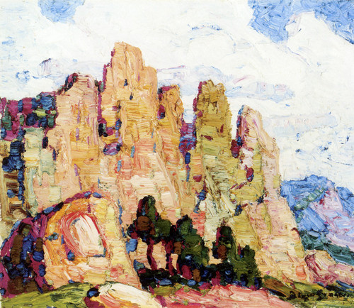 Art Prints of Among the Red Rock, Manitou Colorado by Birger Sandzen