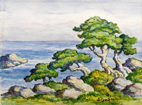 Art Prints of Cedars by the Sea, Carmel, California by Birger Sandzen