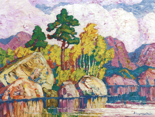 Art Prints of Early Fall in the Mountains by Birger Sandzen