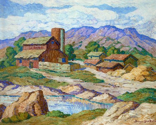 Art Prints of Farm in the Foothills by Birger Sandzen