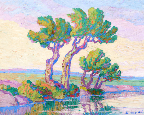Art Prints of Willows and Cottonwoods, 1933 by Birger Sandzen