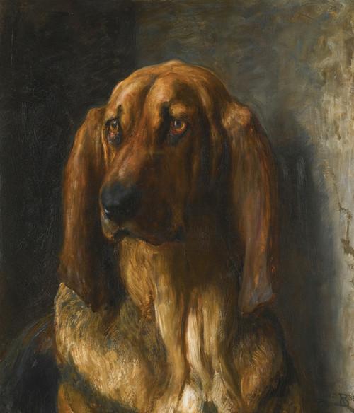 Art Prints of Sir Lancelot, a Bloodhound by Briton Riviere