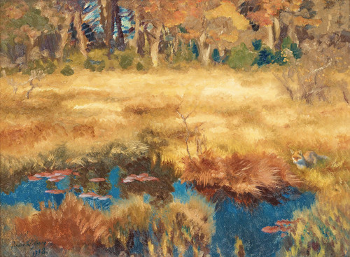 Art Prints of Autumn Landscape with Fox, 1918 by Bruno Liljefors