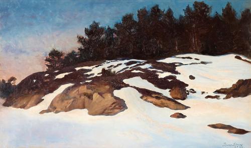 Art Prints of Winter landscape at Dawn by Bruno Liljefors