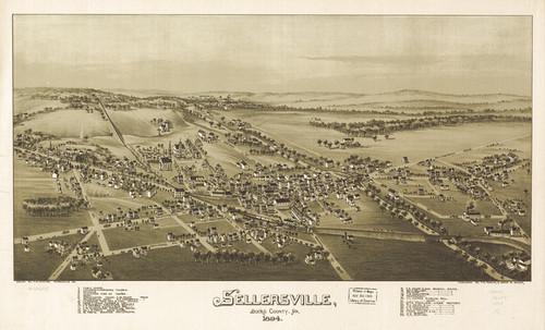Art Prints of Sellersville, 1894, Bucks County Vintage Map