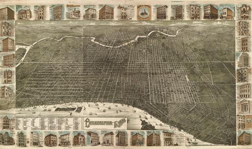 Art Prints of Philadelphia, 1886 by Burk and McFetridge