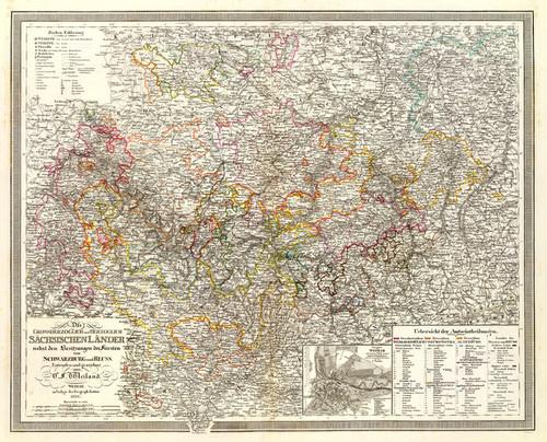 Art Prints of Sachsischen Lander, 1856 (2077025) by C.F. Weiland