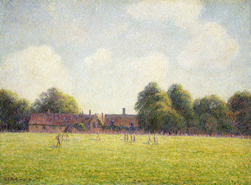 Art Prints of Hampton Court Green by Camille Pissarro