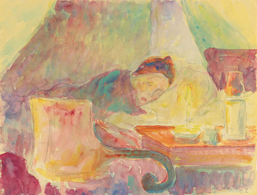 Art Prints of Mother of the Artist Resting by Camille Pissarro