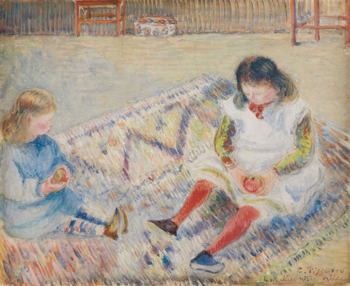 Art Prints of Study for the Artist's Children by Camille Pissarro