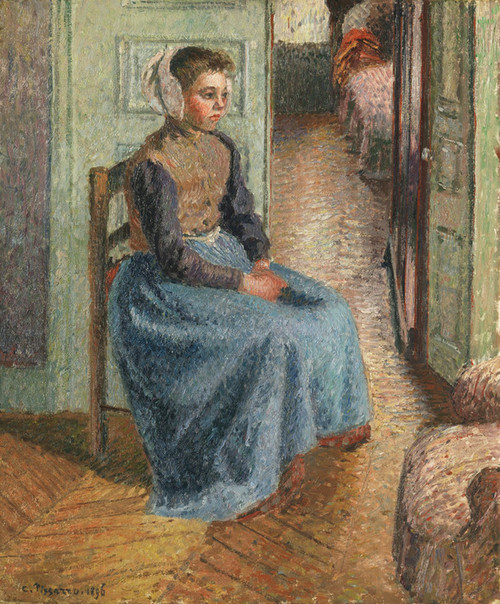 Art Prints of Little Flemish Girl, La Rosa by Camille Pissarro
