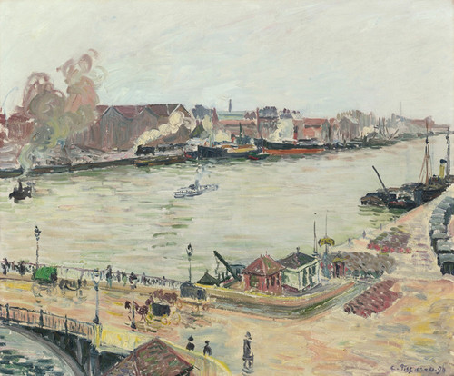 Art Prints of The Seine Bridge at Boieldieu by Camille Pissarro