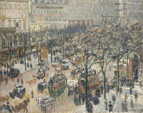 Art Prints of Boulevard des Italiens, Morning Sunlight by Camille Pissarro