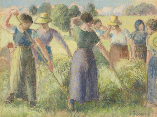 Art Prints of Haying by Camille Pissarro