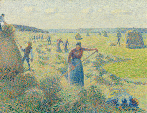 Art Prints of Hay Harvest, Eragny by Camille Pissarro